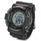 Spovan Blade-4-A Multi-Function Waterproof Sport Digital Wrist Watch - Black + Silver (1 x CR2025)