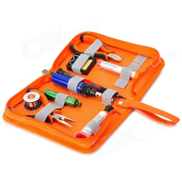 WLXY WL-407 40W Gas Soldering Set - Yellowish Brown + Blue + Multi-Colored