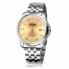EYKI 8521 British Men's Fashionable Retro Minimalist Steel Watch - Silver + Brown