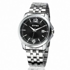 EYKI 8521 Men's Fashionable Steel Quartz Wrist Watch - Silver + Black (1 x 10#)