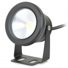 10W 600lm 6500K LED White Decoration Light - Black (12~24V)