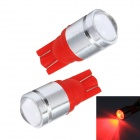 Merdia LEDD015C4 T10 1W 120lm 700nm 1-Condenser Lens LED Red Car Instrument Lamp - Red (12V / 2 PCS)
