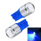 Merdia LEDD015C5 T10 1W 120lm 470nm 1-Condenser Lens LED Blue Car Instrument Lamps (12V / 2 PCS)