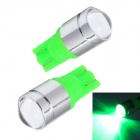Merdia LEDD015C8 T10 1W 120lm 550nm 1-Condenser Lens LED Green Car Instrument Lamps (12V / 2 PCS)