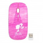 Promi MF-822 Ultra-Slim 2.4GHz Wireless Ergonomic 1600dpi Mouse - Deep Pink + White (2 x AAA)