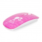Promi MF-822 Ultra-Slim sans fil 2,4 GHz 1600dpi souris ergonomique - Deep Rose + Blanc (2 x AAA)