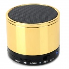 Portable Wireless Bluetooth v3.0 + EDR Speaker w/ TF / Hands-Free - Golden + Black