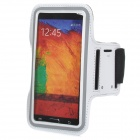 Fashion Rubber Sports Armband for Samsung Note 2 / 3 / N9000 / N9002 / 9005 - White + Black