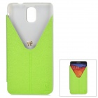 Stylish Protective PU Leather Case w/ Stand for Samsung Note 3 / N9000 - Grass Green