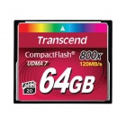 Transcend 64GB 800x Compact flash Card 120/60 MB/s
