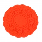 Flower Style Environmental Silicone Heat Insulation Pad - Red