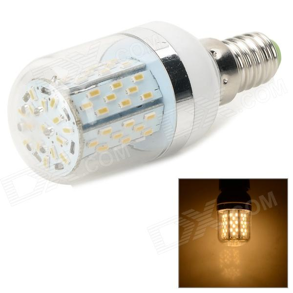 E14 270lm 3000K 78-SMD 3014 LED Warm White Light Bulb - White + Translucent gc e14 3w 170lm 3000k 64 3014 smd led warm white light corn bulb ac 90 240v