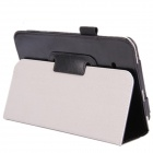 Ultra-thin Protective PU Leather Case Stand for Samsung Galaxy Tab 3 Lite T110 Tablet PC - Black