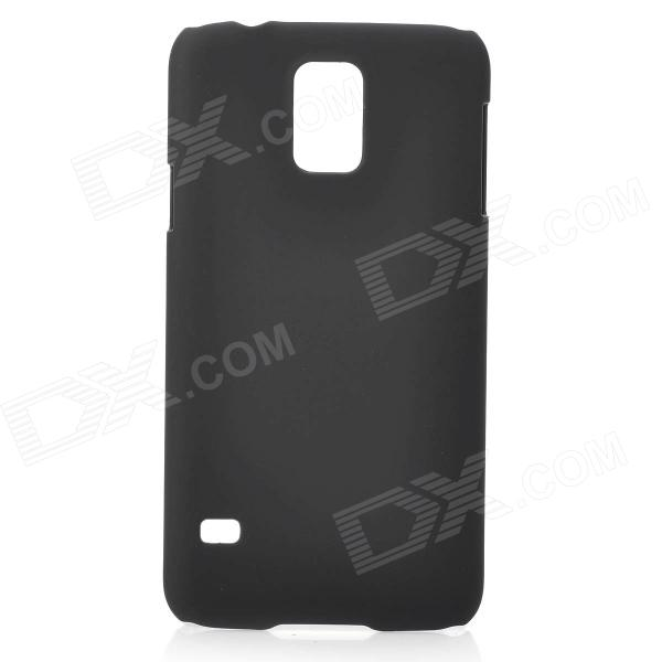 Fashionable Super Thin Protective Glaze PC Back Case for Samsung Galaxy S5 - Black