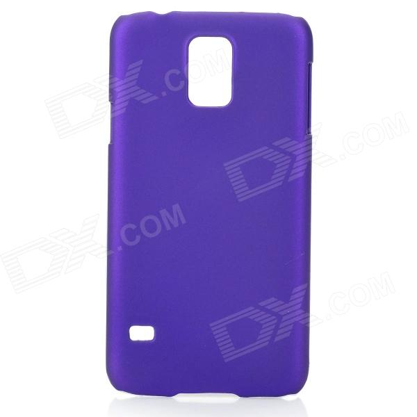 Fashionable Super Thin Protective Glaze PC Back Case for Samsung Galaxy S5 - Deep Purple