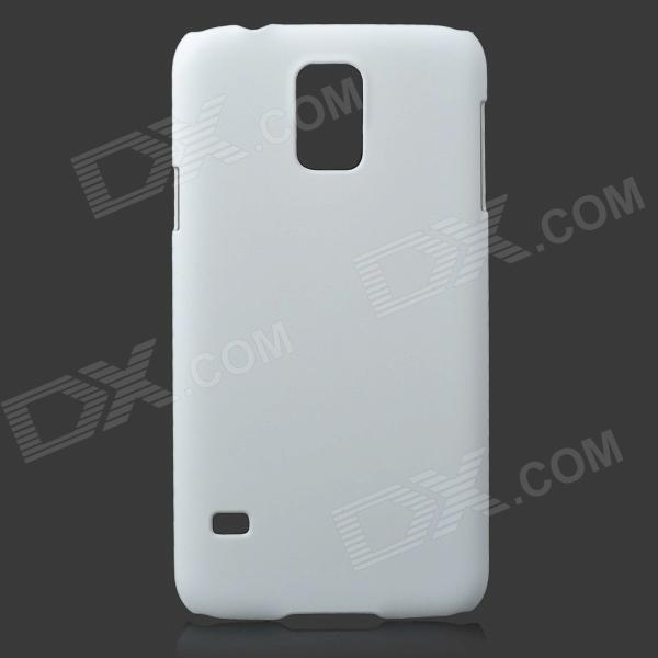 Fashionable Super Thin Protective Glaze PC Back Case for Samsung Galaxy S5 - White