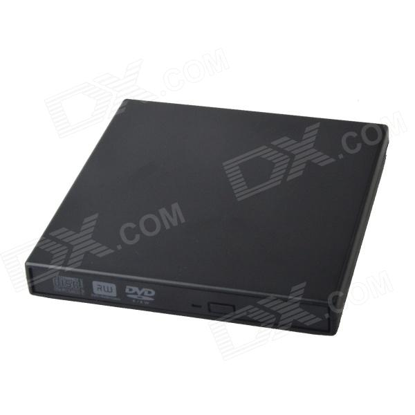 HH-170 Ultra-Slim Portable USB 2.0 DVD RW External Optical Drive - Black slim portable usb 2 0 dvd rom cd rom external optical drive black