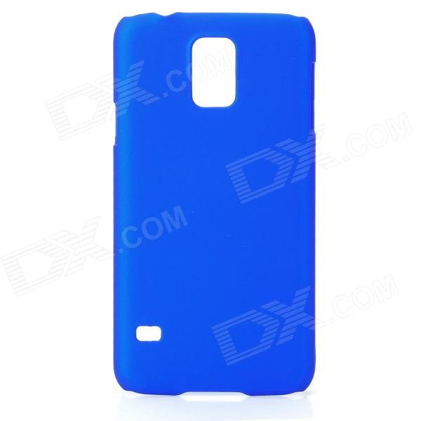 Fashionable Super Thin Protective Glaze PC Back Case for Samsung Galaxy S5 - Deep Blue