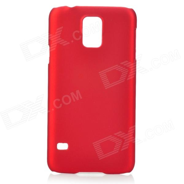 Fashionable Super Thin Protective Glaze PC Back Case for Samsung Galaxy S5 - Wine Red