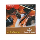 DEDO MA-72 Steel Violin Strings - Silver + Silvery Grey (4 PCS)