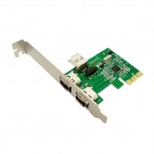 IOCREST IO-PCE6315-2E1I Combo 2 External  + 1 Internal 1394a Firewire Ports PCIe Controller Card