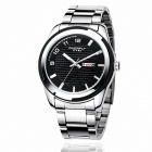 EYKI 8536 Fashionable Men's Business Casual Watches - Silver + Black