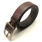 Men's Split Leather Pin Buckle Belt - Brown