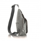 1322 Convenient Leisure Canvas Waist Bag - Gray