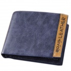 Bovis Men's Frosted Split Leather Wallet - Blueish Grey
