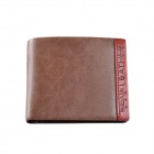 Bovis Men's Frosted Split  Leather Wallet - Khaki