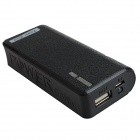 "Portable ""5600mAh"" Power Source Bank w/ 1-LED Flashlight for IPHONE / HTC / Samsung + More - Black"