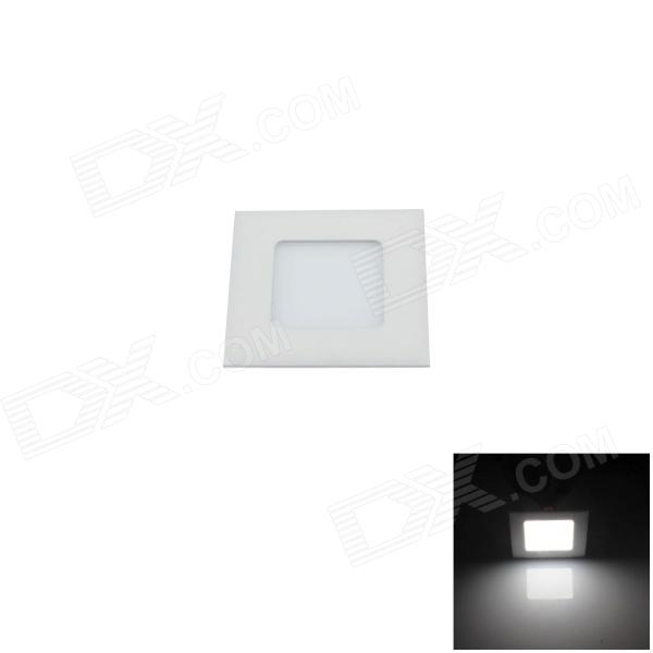Ultrathin Square 3W 200lm 6000K 15 x SMD 2835 LED White Ceiling Light w/ Driver - White (AC 90~265V)