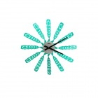 HQS-G3322 Novel DIY Windmill Style Analogue Wall Clock - Green (1 x AA)