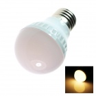 E27 4W 180LM 2500K 18-SMD 5050 LED Warm White Light Lamp Bulb - White (AC110~120V)
