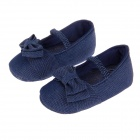 Cute Bowknot Comfortable Soft Sole Baby Shoes - Dark blue (6~9 Months / Pair)