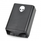 18DU 506 Extraterrestrial Pattern Turbine Exhaust Fan Radiator - Black (12V)