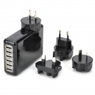 Universal 6-port USB AC Power Charger Adapter + US/EU/UK/AU Plug for IPAD / Samsung (100~240V)