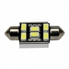Canbus Error Free Festoon 36mm 2W 200lm 6 x SMD 5630 LED White Car Roof Light Lamp - (12V / 2 PCS)