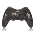 X-303 2.4GHz Wireless Double Shock Game Controller For PS1 / PS2 / USB Gamepad - Black