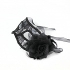 Mysterious Lace Mask for Party - Black