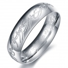 GJ324 Beautiful Lord 316L Stainless Steel Ring - Silver (USA 7#)