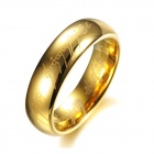 GJ324 Beautiful Lord 316L Stainless Steel Ring - Golden (USA 7#)
