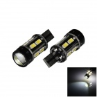 T10 / T15 7W 300lm 10 x SMD 5630 LED + 1-COB White Car Backup / Reversing Light - (12~24V / 2 PCS)