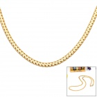 KCCHSTAR High-Quality Fine Copper 24K Gold-plated Necklace - Golden