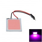 T10 / BA9S / Festoon 31mm~42mm 2W 150lm 24 x COB LED Purple Car Interior Dome Light - (12V)