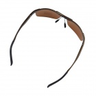 OUMILY Hombres UV 400 Protection Polarizado Tawny lente gafas de sol-Brown