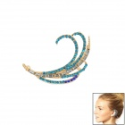 Ear Hook Decoration Earrings for Women - Blue + Golden + Multicolored