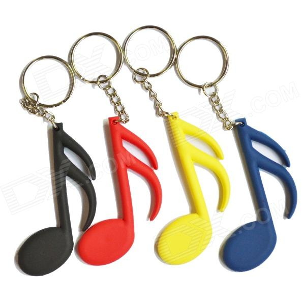 DEDO MG-58 Music Notes Styled PVC Key Chains - White + Black + Multicolored (4 PCS)