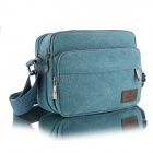 Shengxilu 2468 Men's Casual Canvas Shoulder Bag -Blue
