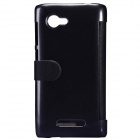 NILLKIN Protective PU Leather + PC Case for Lenovo A880 - Black